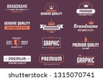 vintage retro vector logo for... | Shutterstock .eps vector #1315070741