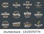 vintage retro vector logo for... | Shutterstock .eps vector #1315070774