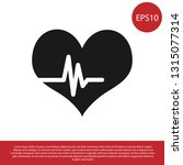 black heart rate icon isolated... | Shutterstock .eps vector #1315077314