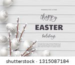 easter holiday background.... | Shutterstock .eps vector #1315087184