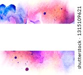 watercolor template for... | Shutterstock . vector #1315109621