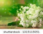 spring white fragrant lilies of ... | Shutterstock . vector #1315115051
