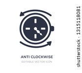 anti clockwise icon on white...