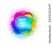 abstract happy holi banner with ... | Shutterstock .eps vector #1315121147