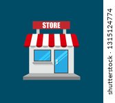 shop or market store front... | Shutterstock .eps vector #1315124774