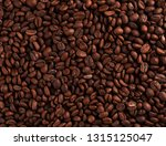 coffee beans background | Shutterstock . vector #1315125047