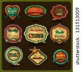 vintage label and retro design... | Shutterstock .eps vector #131513009