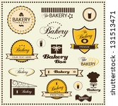 set of bakery labels | Shutterstock .eps vector #131513471