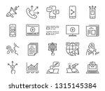 advertising line icon set.... | Shutterstock .eps vector #1315145384