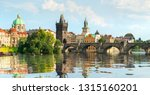 Famous Prague Charles Bridge On ...