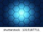 abstract futuristic digital... | Shutterstock .eps vector #1315187711