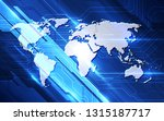 vector digital global... | Shutterstock .eps vector #1315187717