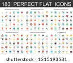 180 modern flat icons set of... | Shutterstock .eps vector #1315193531