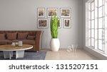 interior of the living room. 3d ... | Shutterstock . vector #1315207151