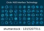 vector icon set technology... | Shutterstock .eps vector #1315207511