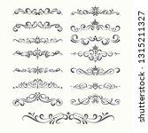 calligraphic design elements ... | Shutterstock .eps vector #1315211327