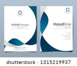 blue corporate identity cover... | Shutterstock .eps vector #1315219937