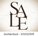 sale background over vintage... | Shutterstock .eps vector #131522549