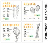 set of vegetables nutition... | Shutterstock .eps vector #1315236581