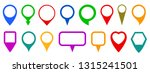 set pin map marker pointer icon ... | Shutterstock .eps vector #1315241501