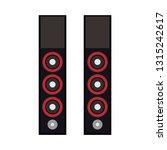 speaker technology equipment... | Shutterstock .eps vector #1315242617