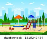 kids playground. city park... | Shutterstock .eps vector #1315243484