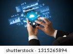 female hand using smartphone... | Shutterstock . vector #1315265894