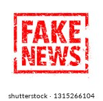 fake news rubber stamp | Shutterstock .eps vector #1315266104