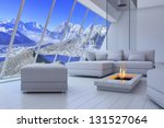 White 3d Interior Room With...