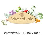 vector spices and herbs | Shutterstock .eps vector #1315271054