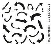 set of hand drawn bold marker... | Shutterstock .eps vector #1315272221