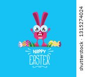 happy easter greeting card.... | Shutterstock .eps vector #1315274024
