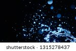 blue water splash on dark... | Shutterstock . vector #1315278437