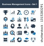 business management icons   set ... | Shutterstock .eps vector #1315283291