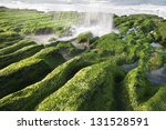 Stone Trench of Laomei Coast - stock photo