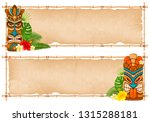 summer tropical bamboo frame... | Shutterstock .eps vector #1315288181