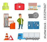 male trucker and road... | Shutterstock .eps vector #1315294367