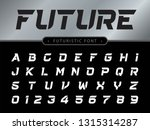 vector of futuristic alphabet... | Shutterstock .eps vector #1315314287
