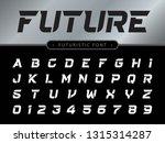vector of futuristic alphabet...   Shutterstock .eps vector #1315314287
