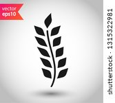 wheat vector icon. agriculture... | Shutterstock .eps vector #1315322981