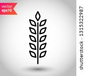 wheat vector icon. agriculture... | Shutterstock .eps vector #1315322987