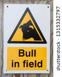 yellow and white sign warning... | Shutterstock . vector #1315332797