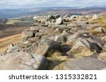 rocky escarpment at stanage... | Shutterstock . vector #1315332821