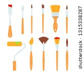 painting tools vector... | Shutterstock .eps vector #1315338287