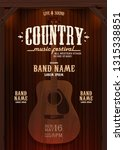 country music evening wild west ... | Shutterstock .eps vector #1315338851