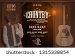 country music  evening wild... | Shutterstock .eps vector #1315338854