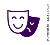 drama theatre masks icon vector ... | Shutterstock .eps vector #1315347104