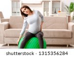 young pregnant woman doing... | Shutterstock . vector #1315356284