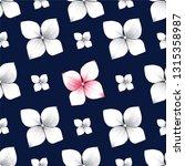 seamless pattern beautiful blue ... | Shutterstock .eps vector #1315358987