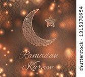 ramadan kareem greeting card... | Shutterstock .eps vector #1315370954